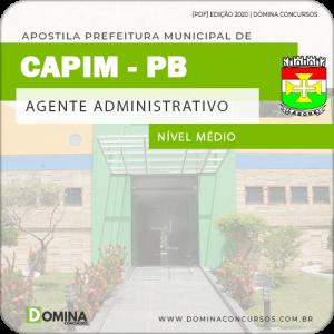 Apostila Concurso Pref de Capim PB 2020 Agente Administrativo