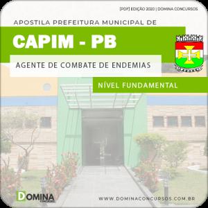 Apostila Pref Capim PB 2020 Agente de Combate Endemias