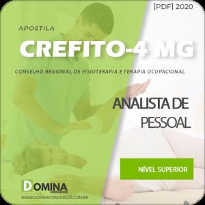 Apostila CREFITO 4 MG 2020 Analista de Pessoal Quadrix