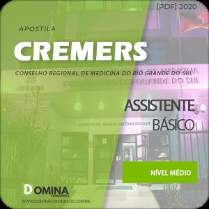Apostila Concurso CREMERS 2020 Assistente Básico