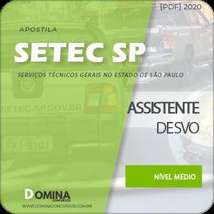 Apostila SETEC Campinas SP 2020 Assistente de SVO