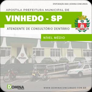 Apostila Pref Vinhedo SP 2020 Atendente Consultório Dentário
