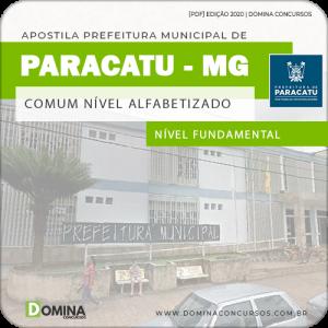 Apostila Concurso Paracatu MG 2020 Comum Cargo Alfabetizado