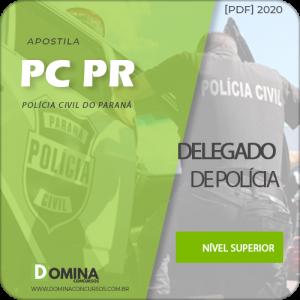Apostila Concurso PC PR 2020 Delegado de Polícia UFPR