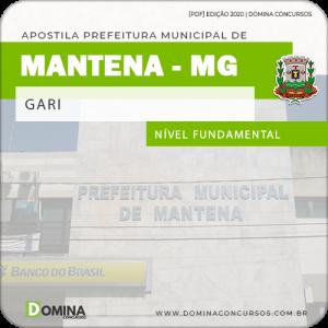 Apostila Concurso Público Pref Mantena MG 2020 Gari