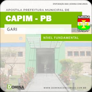 Apostila Concurso Prefeitura de Capim PB 2020 Gari
