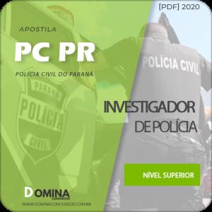 Apostila Concurso PC PR 2020 Investigador de Polícia
