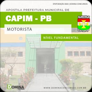 Apostila Concurso Prefeitura de Capim PB 2020 Motorista