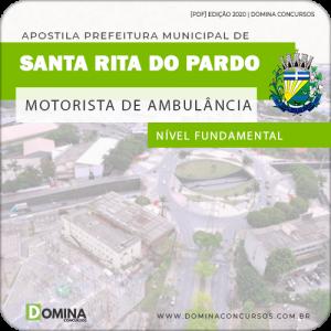 Apostila Santa Rita Pardo MS 2020 Motorista de Ambulância