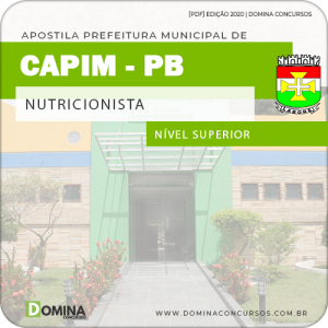 Apostila Concurso Pref de Capim PB 2020 Nutricionista