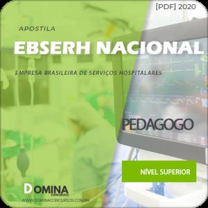 Apostila Concurso EBSERH Nacional 2020 Pedagogo AOCP