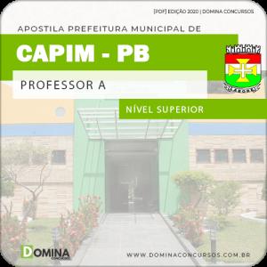 Apostila Concurso Pref de Capim PB 2020 Professor A