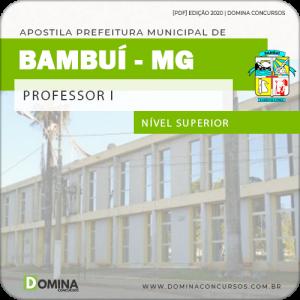 Apostila Concurso Pref Bambuí MG 2020 Professor I