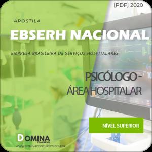 Apostila Concurso EBSERH 2020 Psicólogo Área Hospitalar