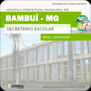 Apostila Concurso Pref Bambuí MG 2020 Secretário Escolar