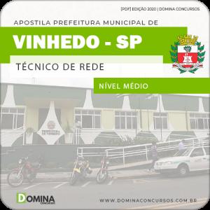 Apostila Concurso Pref Vinhedo SP 2020 Técnico de Rede