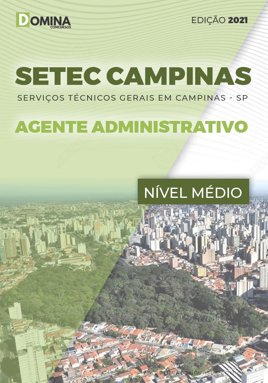 Apostila SETEC Campinas SP 2021 Agente Administrativo