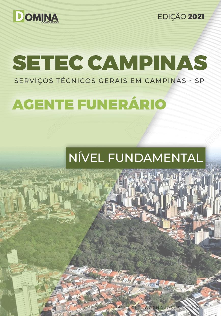 Apostila Concurso SETEC Campinas SP 2021 Agente Funerário