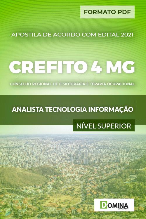 Apostila CREFITO 4 MG 2020 Analista Tecnologia Informação
