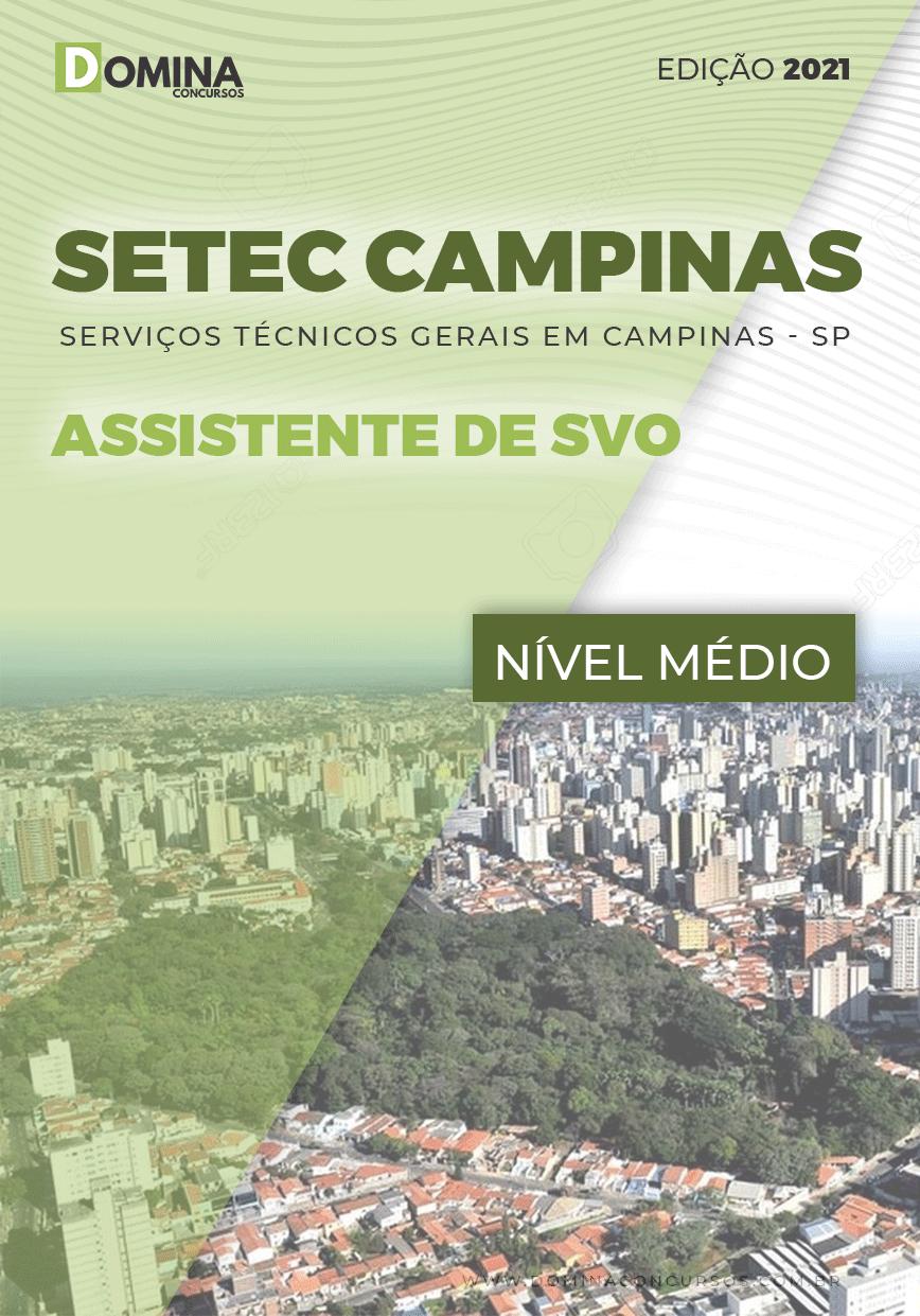 Apostila SETEC Campinas SP 2021 Assistente de SVO