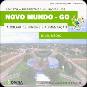 Apostila Pref Mundo Novo GO 2020 Auxiliar Higiene Alimentação