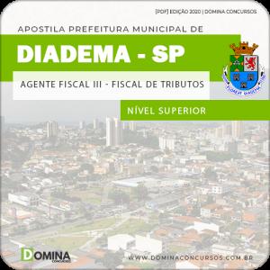 Apostila Pref Diadema SP 2020 Agente Fiscal III Fiscal Tributos