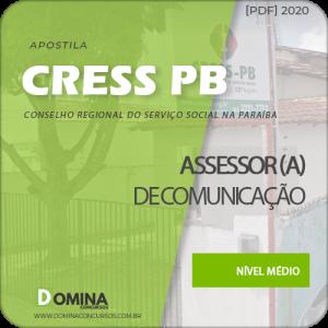 Apostila Concurso CRESS PB 2020 Assessor de Comunicação