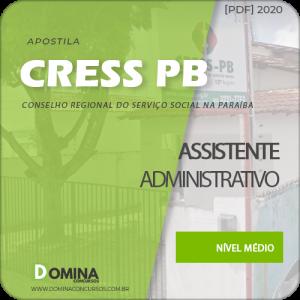 Apostila Concurso CRESS PB 2020 Assistente Administrativo