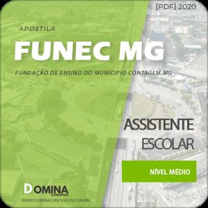 Apostila FUNEC Contagem MG 2020 Assistente Escolar