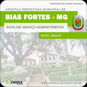 Apostila Pref Bias Fortes MG 2020 Auxiliar Serviço Administrativo