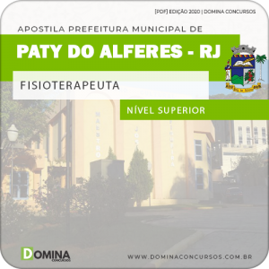 Apostila Concurso Pref Paty do Alferes RJ 2020 Fisioterapeuta