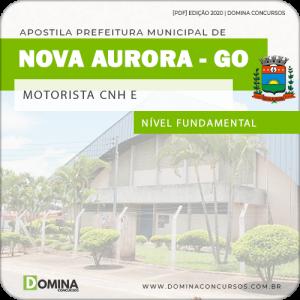 Apostila Concurso Pref Nova Aurora GO 2020 Motorista CNH E