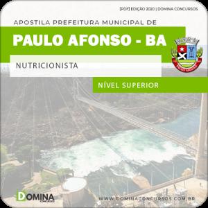 Apostila Concurso Pref Paulo Afonso BA 2020 Nutricionista