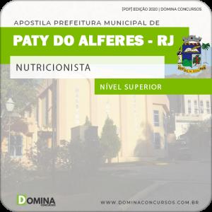 Apostila Concurso Pref Paty do Alferes RJ 2020 Nutricionista