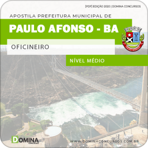 Apostila Concurso Pref Paulo Afonso BA 2020 Oficineiro