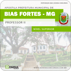 Apostila Concurso Pref Bias Fortes MG 2020 Professor II