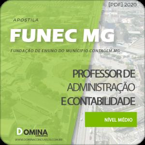 Apostila FUNEC Contagem MG 2020 Prof Adm e Contabilidade