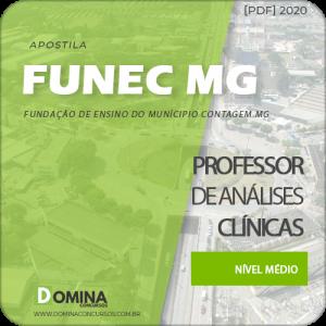 Apostila FUNEC Contagem MG 2020 Professor Análises Clínicas