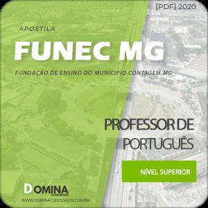 Apostila FUNEC Contagem MG 2020 Professor de Português