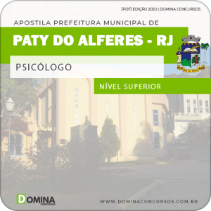 Apostila Concurso Pref Paty do Alferes RJ 2020 Psicólogo