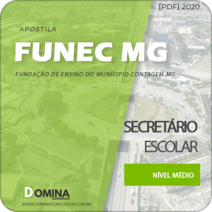 Apostila FUNEC Contagem MG 2020 Secretário Escolar