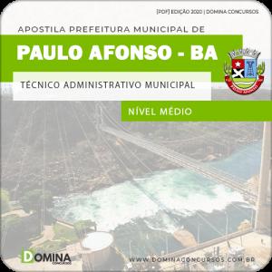 Apostila Pref Paulo Afonso BA 2020 Técnico Adm Municipal