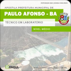 Apostila Pref Paulo Afonso BA 2020 Técnico em Laboratório