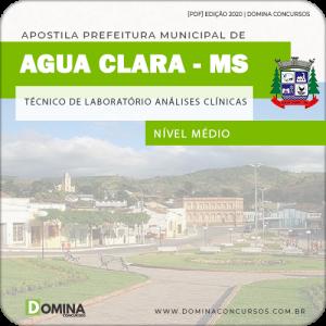 Apostila Pref Água Clara MS 2020 Técnico Análises Clínicas