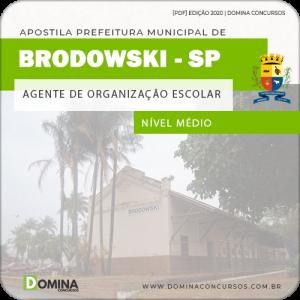 Apostila Pref Brodowski SP 2020 Agente de Organização Escolar