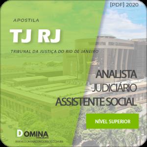 Apostila Concurso TJ RJ 2020 Analista Judiciário Assistente Social