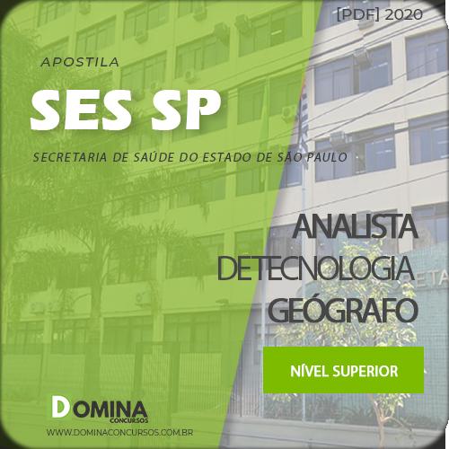 Apostila SES SP 2020 Analista de Tecnologia Geógrafo