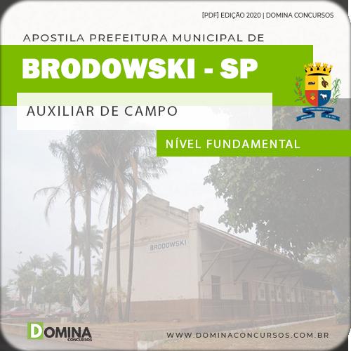 Apostila Concurso Pref Brodowski SP 2020 Auxiliar de Campo