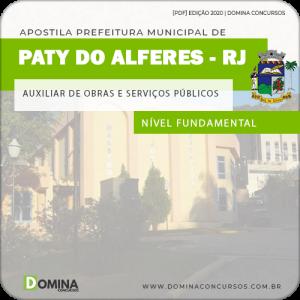 Apostila Pref Paty Alferes RJ 2020 Aux Obras Serviços Públicos