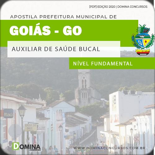 Apostila Concurso Pref Goiás GO 2020 Auxiliar Saúde Bucal